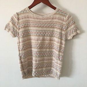 Vintage Pastel Sweater Top